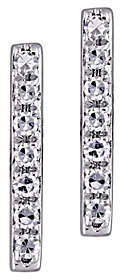 Affinity Diamond Jewelry Affinity 14K Diamond Bar Stud Earrings