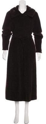 Max Mara Fur Long Sleeve Coat