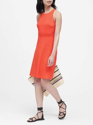 Banana Republic Lightweight Wool Fit-and-Flare Dress