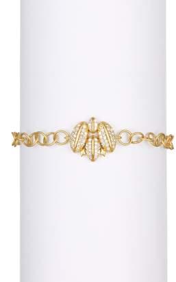 Freida Rothman 14K Gold Plated Sterling Silver Pave CZ Winged Bracelet