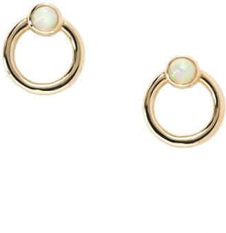 Montmorency Petite Opal Hoop Stud Earrings