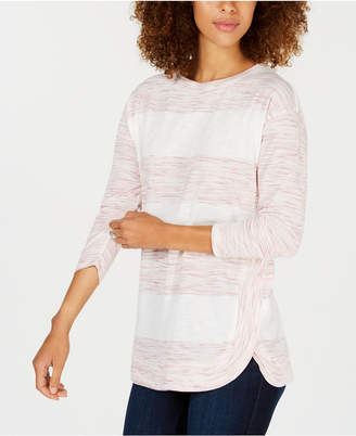 Style&Co. Style & Co Colorblock-Stripe Boat-Neck Top