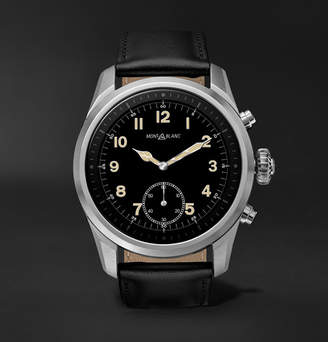 Montblanc Summit 2 42mm Stainless Steel and Leather Smart Watch - Men - Black