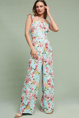 Adelyn Rae Floral Flutter Jumpsuit $158 thestylecure.com