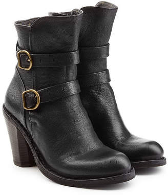 Fiorentini+Baker Leather Double Strap Ankle Boots