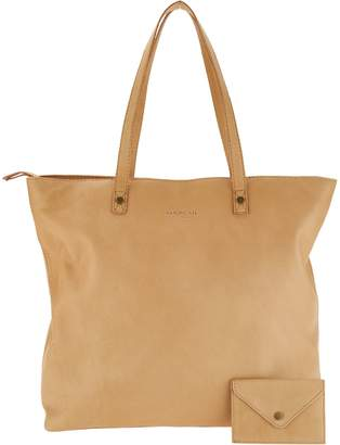 Co American Leather Glove Leather Zip Top Tote w/ Accessory