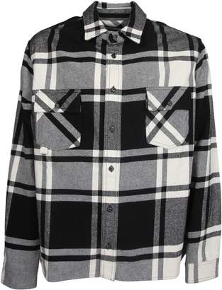 Off-White Off White Long-sleeve Checked Shirt