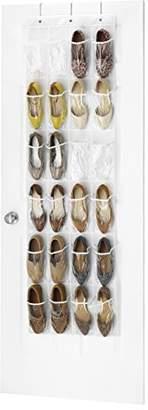 Whitmor Door Shoe Bag Hanging Organizer-12 Pair-24 Oversized Pockets