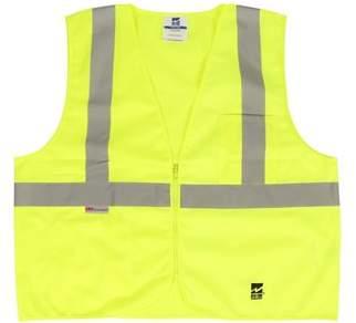 Viking Men's Solid Zipper Safety Vest, Pack of 25