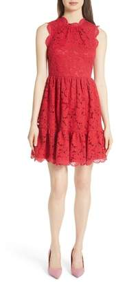 Kate Spade poppy field lace fit & flare dress