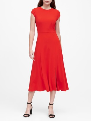 Banana Republic Soft Ponte Midi Dress with Slit