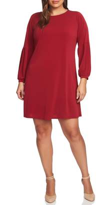 CeCe Puff Sleeve Knit Dress