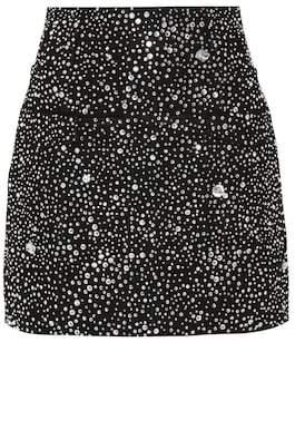 Balmain Embellished cotton miniskirt