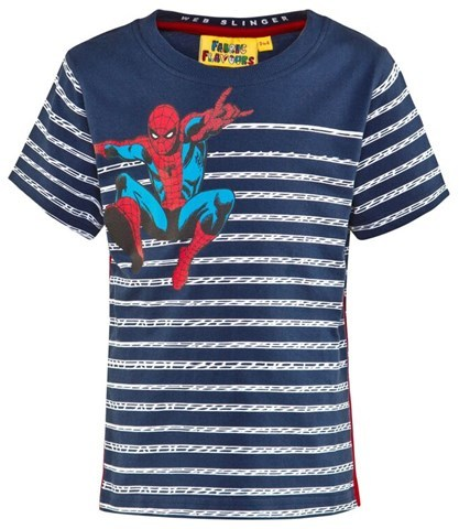 Fabric Flavours Blue And White Spiderman Tee