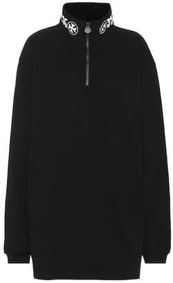 Vetements Embroidered cotton sweatshirt