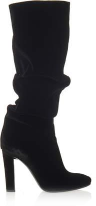 Alberta Ferretti Velvet Knee Boots
