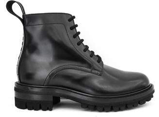 DSQUARED2 Black Calfskin Ankle Boots.