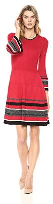 Jessica Howard Women's Ruffle Sleeve Fit & Flare Dress