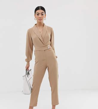 c01c6ebb65d Fashion Union Petite tuxedo jumpsuit