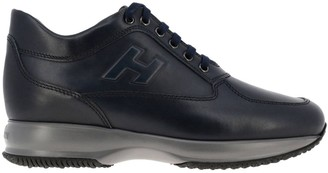 Hogan Sneakers Interactive Sneakers In Leather With Embossed H