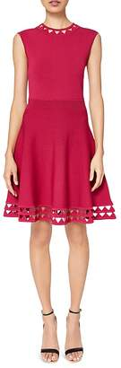 Ted Baker Kathryn Cutout Knit Fit-and-Flare Dress $295 thestylecure.com