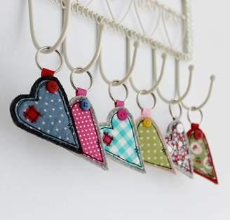 Honeypips Fabric Heart Key Ring