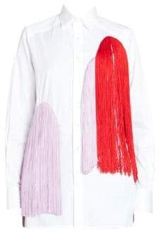 Each X Other Fringe Colorblock Blouse