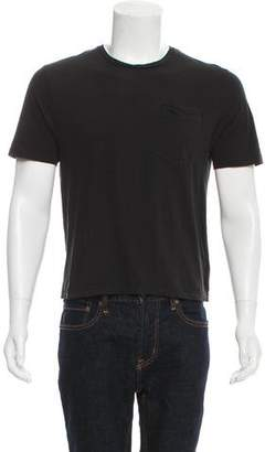 Ami Alexandre Mattiussi Silk-Blend Crew Neck T-Shirt