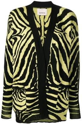 Laneus zebra pattern cardigan
