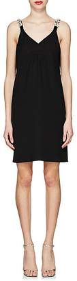 Prada Women's Daisy-Embellished Slipdress - Black