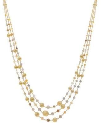 Marco Bicego Africa Unico 18k Gold Raw Diamond 3-Strand Necklace