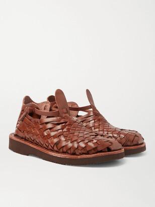 Yuketen Crus Woven Leather Sandals