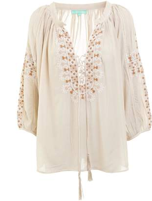 Melissa Odabash Avalon Peasant Top
