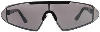 Acne Studios Bornt Sunglasses in Black & Silver | FWRD