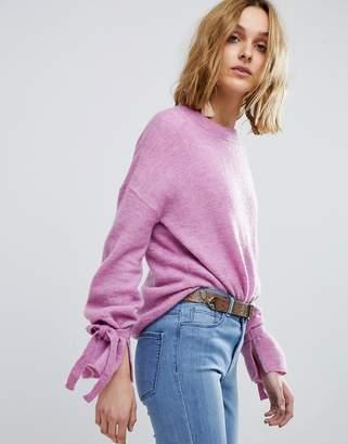 Vero Moda Sweater With Tie Sleeves
