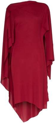 Thierry Mugler asymmetric long sleeved draped dress