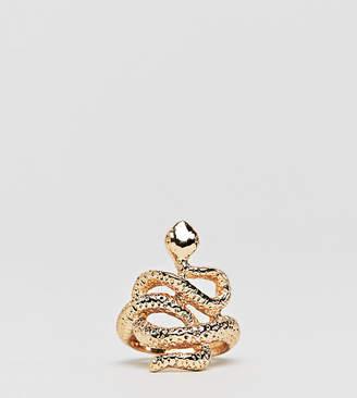 DesignB London gold snake ring