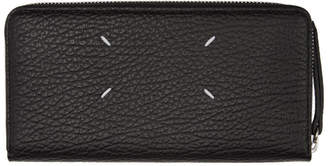Maison Margiela Black Long Grained Wallet