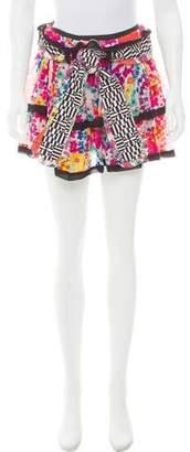 Alexandre Herchcovitch Tiered Floral Print Skirt