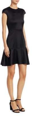Theory Cap-Sleeve A-Line Dress