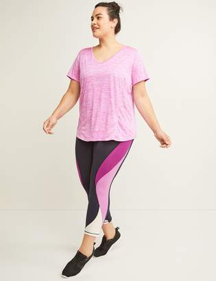 Lane Bryant Signature Stretch Active Capri Legging - Colorblock