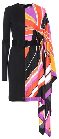 Emilio Pucci Asymmetric printed silk dress