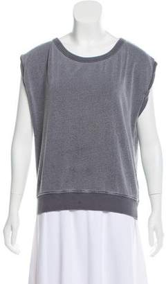 Pam & Gela Sleeveless Cut-Out Back Sweatshirt