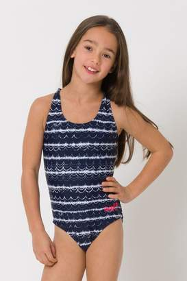 Animal Girls Blue Lapping Swimsuit - Blue