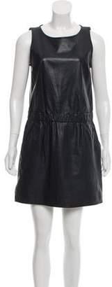 Theory Sleeveless Leather Dress