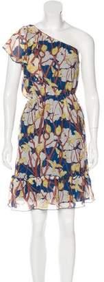 Anna Sui Graphic Print Silk Dress
