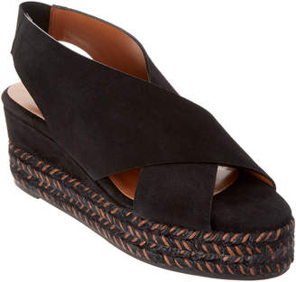 Aquatalia Jaida Waterproof Leather Wedge Sandal