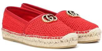 Gucci (グッチ) - Gucci Crochet espadrilles