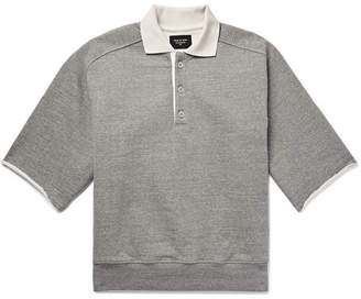 Fear Of God Silk-Trimmed Loopback Cotton-Jersey Polo Shirt