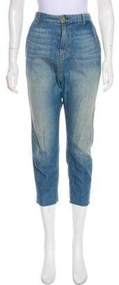 Nili Lotan High-Rise Straight-Leg Jeans